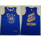 Men's Golden State Warriors #33 James Wiseman Blue Classic Icon Sponsor Swingman Jersey