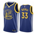 Men's Golden State Warriors #33 James Wiseman Blue Icon Hot Press Jersey