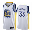 Men's Golden State Warriors #33 James Wiseman White Icon Hot Press Jersey