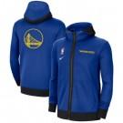 Men's Golden State Warriors Blue Showtime Performance Full Zip Hoodie Jacket