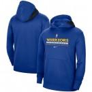 Men's Golden State Warriors Blue Spotlight On Court Practice Performance Pullover Hoodie
