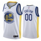 Men's Golden State Warriors Custom White Icon Hot Press Jersey