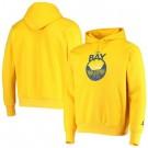 Men's Golden State Warriors Yellow Statement Edition Fleece Pullover Hoodie