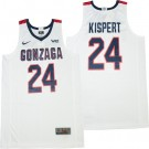 Men's Gonzaga Bulldogs #24 Corey Kispert White 2021 College Basketball Jersey