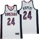 Men's Gonzaga Bulldogs #24 Corey Kispert White College Basketball Jersey