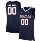 Men's Gonzaga Bulldogs Customized Navy 2019 College Basketball Jersey