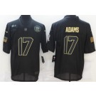 Men's Green Bay Packers #17 Davante Adams Limited Black 2020 Salute To Service Jersey