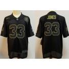Men's Green Bay Packers #33 Aaron Jones Limited Black 2020 Salute To Service Jersey