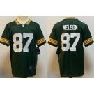 Men's Green Bay Packers #87 Jordy Nelson Limited Green Vapor Untouchable Jersey