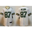 Men's Green Bay Packers #87 Jordy Nelson Limited White Vapor Untouchable Jersey