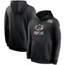 Men's Green Bay Packers Black Crucial Catch Sideline Performance Pullover Hoodie
