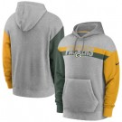 Men's Green Bay Packers Gray Heathered Heritage Tri Blend Pullover Hoodie