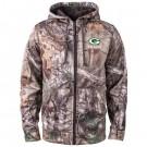 Men's Green Bay Packers Realtree Camo Trophy Tech Fleece Full Zip Hoodie