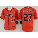 Men's Houston Astros #27 Jose Altuve Orange FlexBase Jersey
