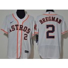 Men's Houston Astros #2 Alex Bregman White 2020 FlexBase Jersey