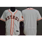 Men's Houston Astros Blank White FlexBase Jersey