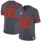 Men's Houston Cougars Customized Gray Rush College Football Jersey