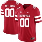 Men's Houston Cougars Customized Red Rush College Football Jersey