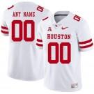 Men's Houston Cougars Customized White Rush College Football Jersey