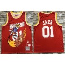 Men's Houston Rockets #01 Jack Red Travis Scott Bleacher Report Printed Jersey