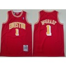 Men's Houston Rockets #1 Tracy Mcgrady Red 2004 Throwback Swingman Jersey