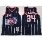 Men's Houston Rockets #34 Hakeem Olajuwon Navy 1993 Throwback Swingman Jersey
