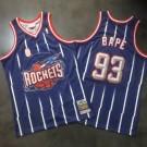 Men's Houston Rockets #93 Bape Navy 2002 Throwback Authentic Jersey
