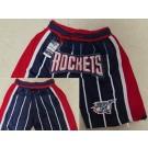Men's Houston Rockets Black Throwback Just Don Swingman Shorts