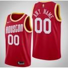 Men's Houston Rockets Custom Red Classic Icon Hot Press Jersey