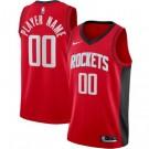 Men's Houston Rockets Custom Red Icon Hot Press Jersey