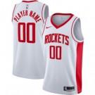 Men's Houston Rockets Custom White Icon Hot Press Jersey