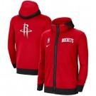 Men's Houston Rockets Red Showtime Performance Full Zip Hoodie Jacket
