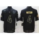Men's Houston Texans #4 Deshaun Watson Limited Black 2020 Salute To Service Jersey