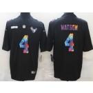 Men's Houston Texans #4 Deshaun Watson Limited Black Crucial Catch Vapor Untouchable Jersey