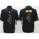 Men's Houston Texans #4 Deshaun Watson Limited Black Gold Vapor Untouchable Jersey
