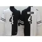 Men's Houston Texans #4 Deshaun Watson Limited Black White Split Jersey