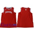 Men's Indiana Hoosiers Customized Red College Basketball Jersey