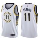 Men's Indiana Pacers #11 Domantas SabonisWhite Icon Hot Press Jersey