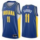 Men's Indiana Pacers #11 Domantas Sabonis Blue 2021 City Icon Hot Press Jersey