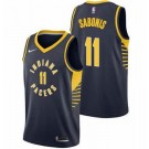 Men's Indiana Pacers #11 Domantas Sabonis Navy Icon Hot Press Jersey