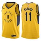 Men's Indiana Pacers #11 Domantas Sabonis Yellow Icon Hot Press Jersey