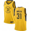 Men's Indiana Pacers #31 Reggie Miller Yellow Icon Hot Press Jersey