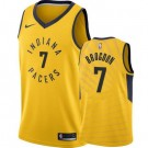 Men's Indiana Pacers #7 Malcolm Brogdon Yellow Icon Hot Press Jersey