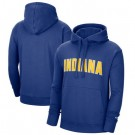 Men's Indiana Pacers Blue 2021 City Edition Essential Logo Fleece Pullover Hoodie