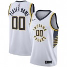 Men's Indiana Pacers Custom White Icon Hot Press Jersey