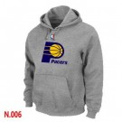 Men's Indiana Pacers Grey Printed Pullover Hoodie