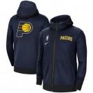 Men's Indiana Pacers Navy Showtime Performance Full Zip Hoodie Jacket