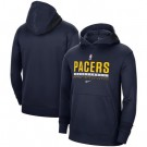 Men's Indiana Pacers Navy Spotlight On Court Practice Performance Pullover Hoodie
