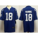Men's Indianapolis Colts #18 Peyton Manning Limited Blue Vapor Untouchable Jersey