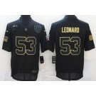 Men's Indianapolis Colts #53 Darius Leonard Limited Black 2020 Salute To Service Jersey